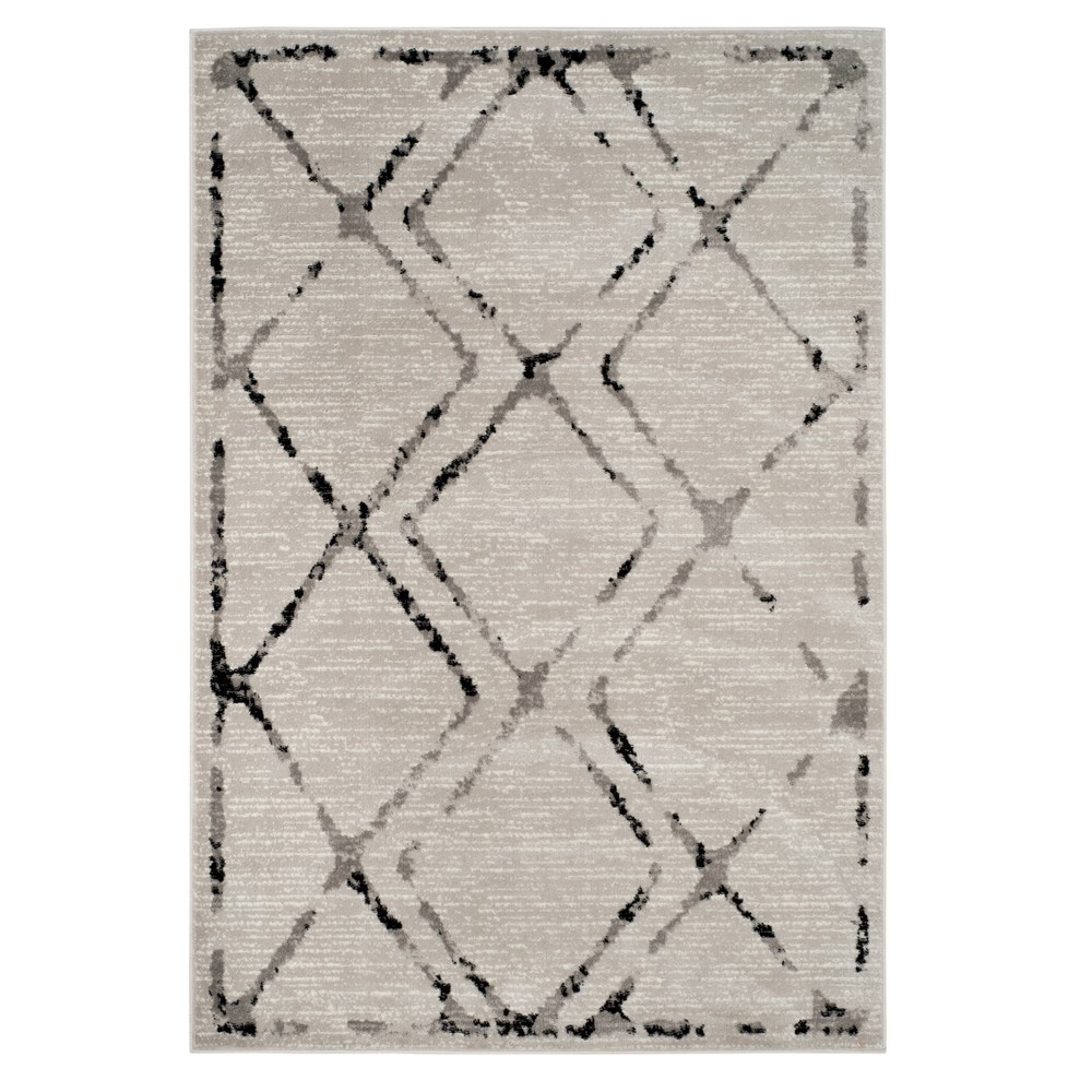 Ivory/Gray Geometric Loomed Area Rug 9'X12' - Safavieh