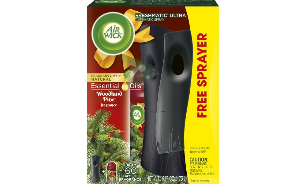 Image of Air Wick Woodland Pine Essential Oils with Free Sprayer - 6.17oz, White