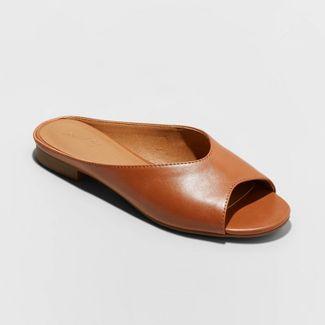 Women's Gaby Faux Leather Slide Sandals - Universal Thread™ Cognac 10