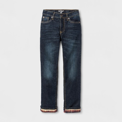 Boys' Flannel-Lined Jeans - Cat & Jack™ - image 1 of 3