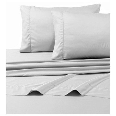 Egyptian Cotton Sateen Deep Pocket Solid Sheet Set (California King)4pc Silver 800 Thread Count - Tribeca Living®