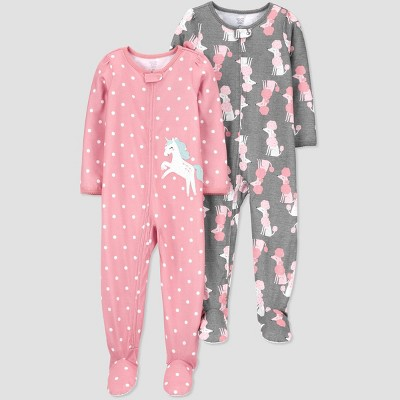 Toddler Girls' Unicorn Footed Pajama - Just One You® made by carter's Pink 12M