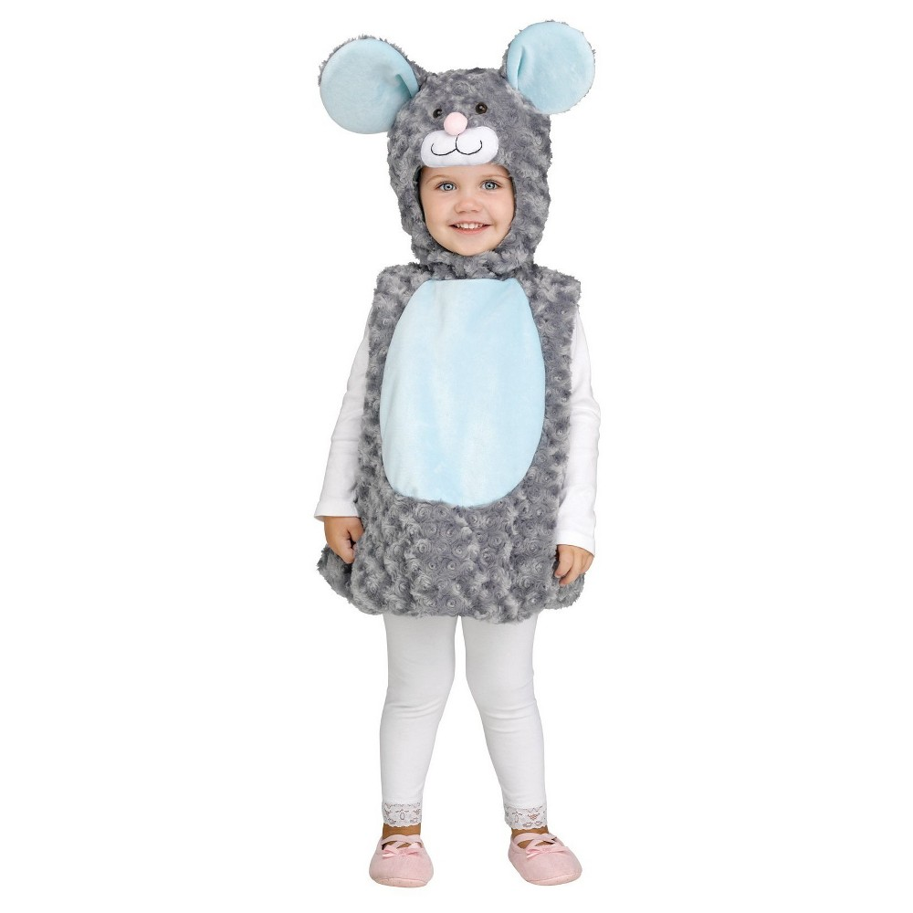 Kids' Little Gray Mouse Costume Large, Kids Unisex, Multi-Colored