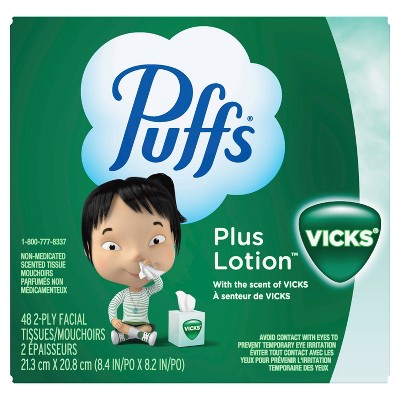 Puffs Plus Lotion with The Scent of Vick's Facial Tissues