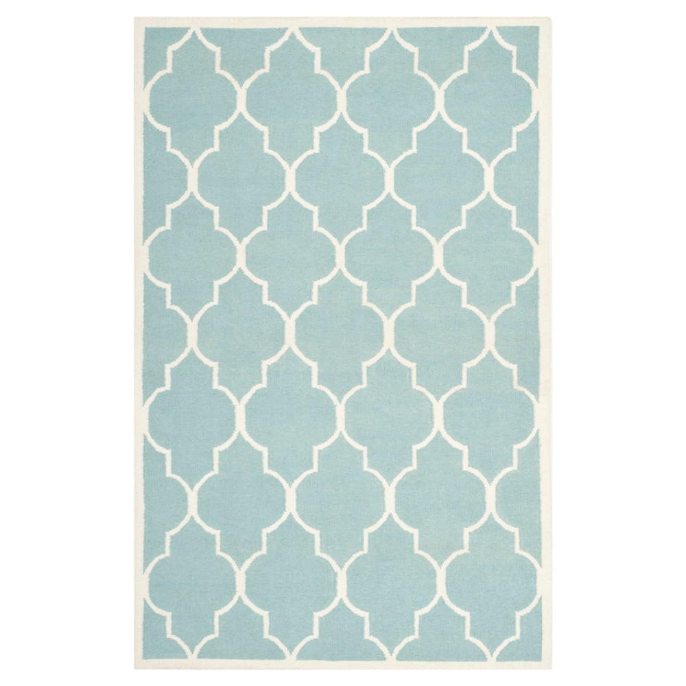 Alarice Dhurry Rug - Light Blue/Ivory - (9'x12') - Safavieh