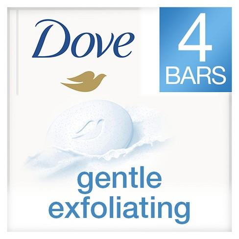 Dove Gentle Exfoliating Beauty Bar 4 oz, 4 Bar - image 1 of 4