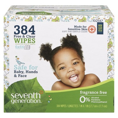 Seventh Generation™ Free & Clear Baby Wipes - 384ct