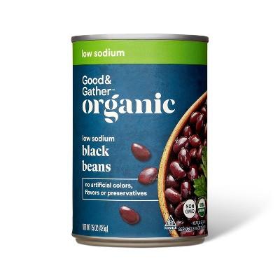 Organic Low Sodium Black Beans - 15oz - Good & Gather™