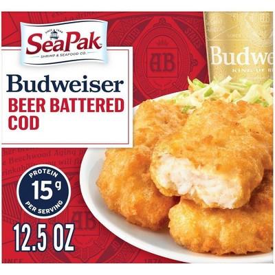 SeaPak Budweiser Beer Battered Cod Fillets - Frozen - 12.5oz