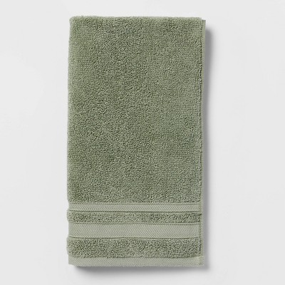 Performance Hand Towel Dark Sage Green - Threshold™