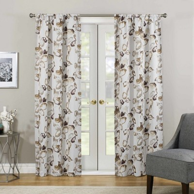 Floral Paige Thermaweave Blackout Curtain Panel - Eclipse