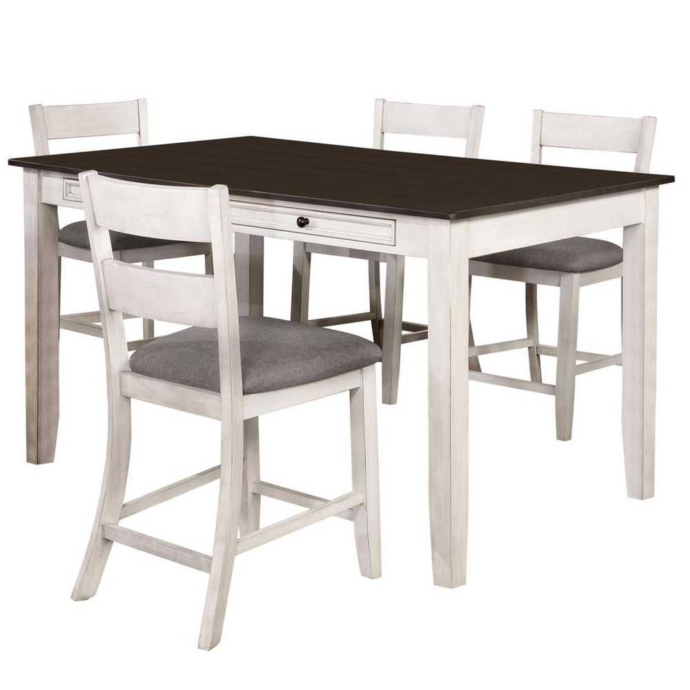 Best 5pc Acker Counter Height Dining Set Gray - HOMES: Inside + Out