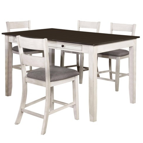 5pc Acker Counter Height Dining Set Gray - HOMES: Inside + Out - image 1 of 4