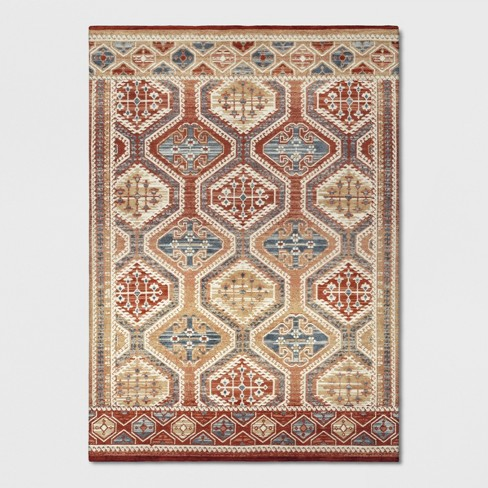 Warm Brown Tapestry Woven Area Rug