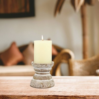 3.9  Small Stonebriar Beach House Pillar Candle Holder - CKK Home Decor