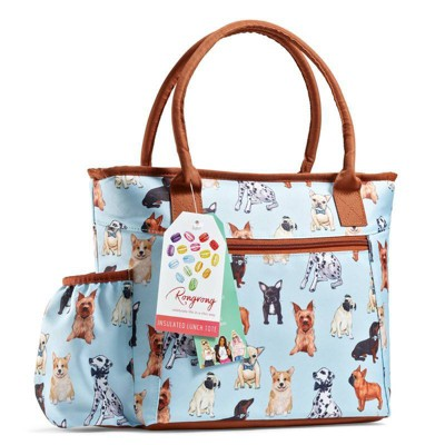 Fit & Fresh Atwater Lunch Tote - Pups Sky
