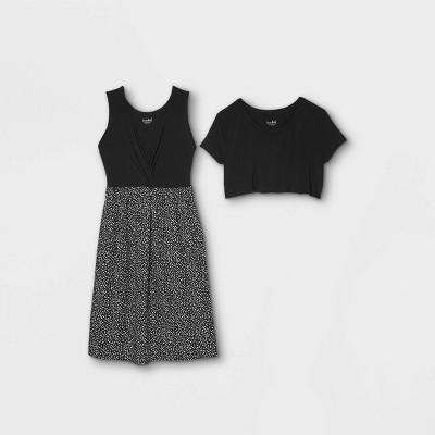 Polka Dot Short Sleeve Nursing Knit to Woven A-Line Maternity Dress - Isabel Maternity by Ingrid & Isabel™