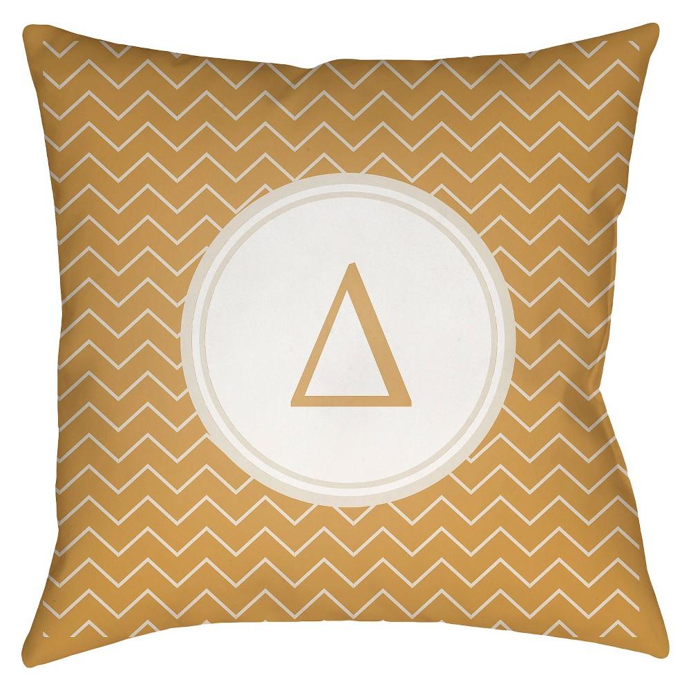 Gold Delta Throw Pillow 18