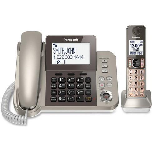 Panasonic KX-TGF350N DECT 6.0 Cordless Phone - Silver, Black - 1 x Phone Line - Speakerphone - image 1 of 1