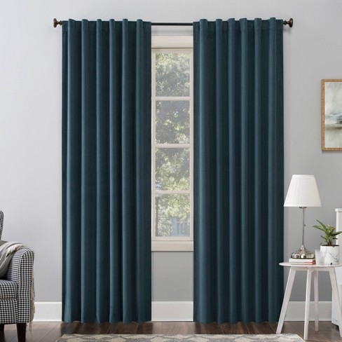 Amherst Velvet Noise Reducing Thermal Back Tab Extreme Blackout Curtain Panel - Sun Zero - image 1 of 4