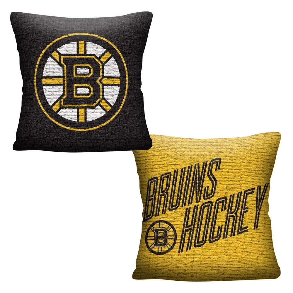 Nhl Boston Bruins Inverted Woven Pillow