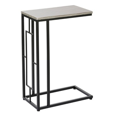 Contemporary Metal and Wood Accent Table - Olivia & May