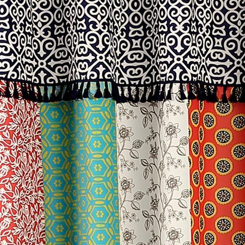Geometric Boho Patch Shower Curtain