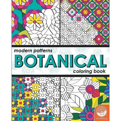 - MindWare Modern Patterns Botanical Coloring Book - Coloring Books : Target