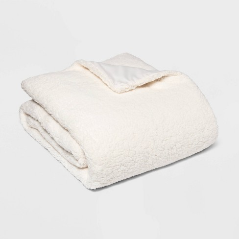 """50"""" x 70"""" Sherpa Weighted Blanket with Removable Cover - Room Essentials™ - image 1 of 2"""