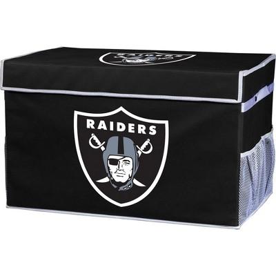NFL Franklin Sports Oakland Raiders Collapsible Storage Footlocker Bins - Small