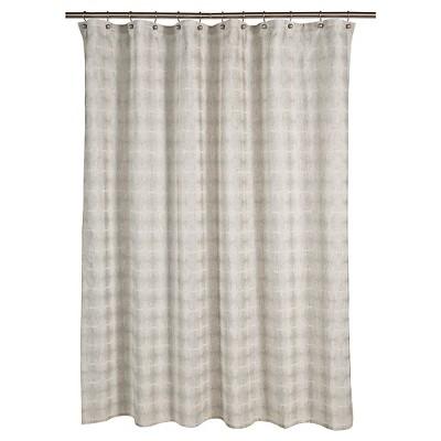 Tile Grid Shower Curtain Natural 72x72