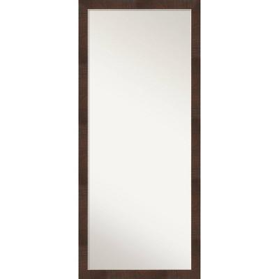 "28"" x 64"" Wildwood Framed Full Length Floor/Leaner Mirror Brown - Amanti Art"