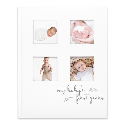 KeaBabies Baby First 5 Years Memory Book Journal, White