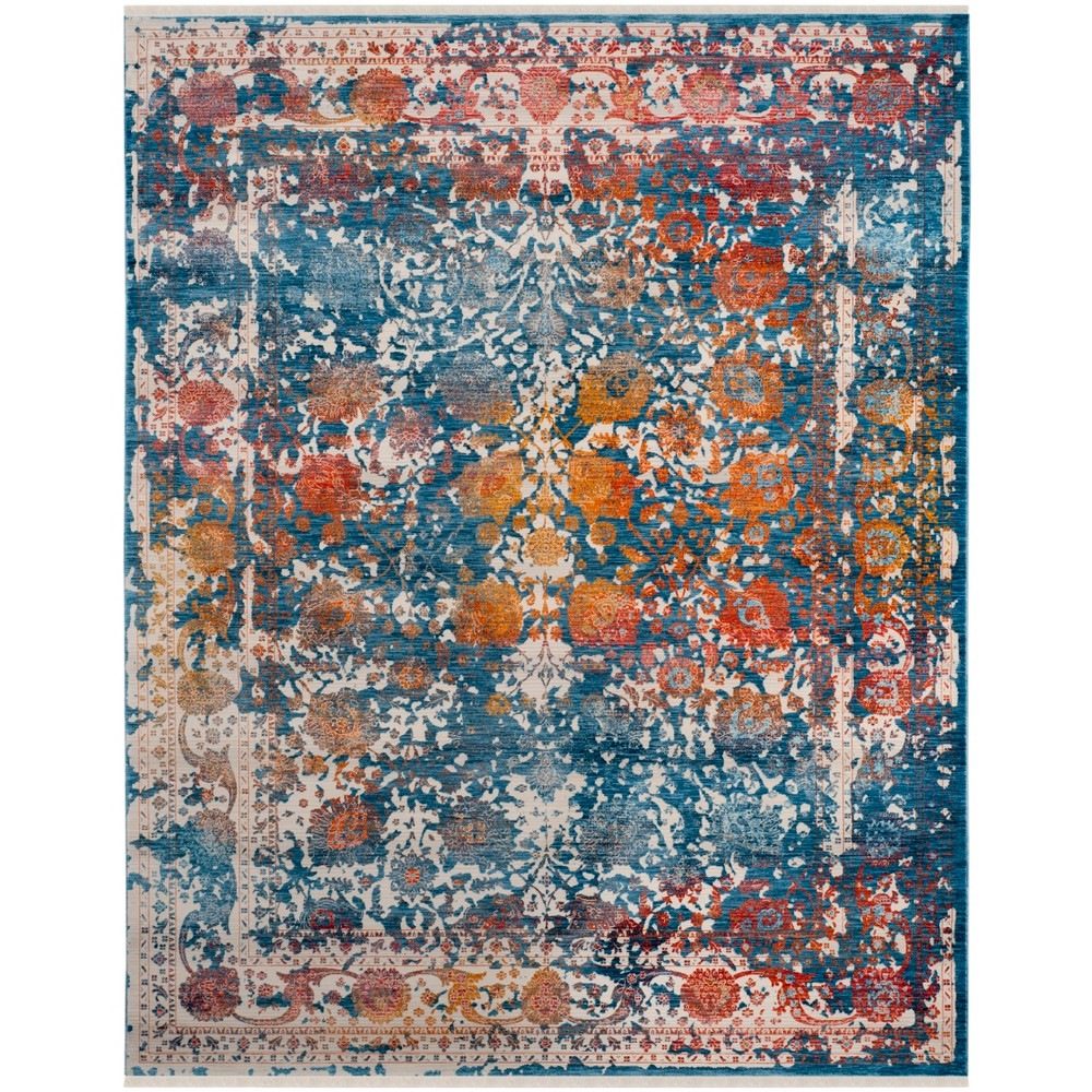 9'X11'7 Loomed Shapes Area Rug Turquoise - Safavieh, Turquoise/Multi-Colored