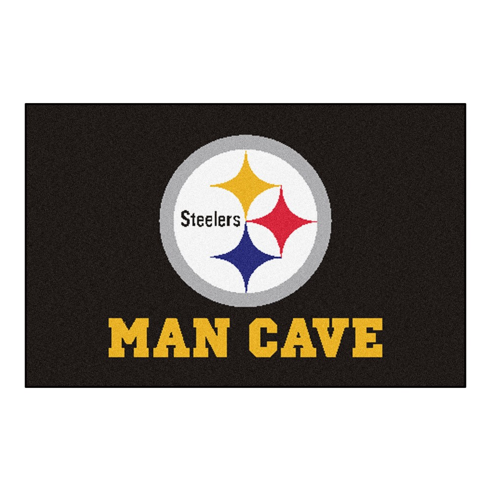 NFL Pittsburgh Steelers Man Cave Starter Rug 19