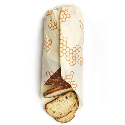 Bee's Wrap Reusable Bread Wrap Reusable Beeswax Food Wrap Sustainable Plastic Free Bread Keeper