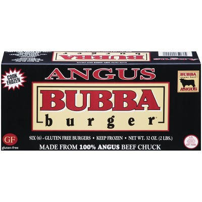 Bubba Burger Angus Beef Chuck Patties - Frozen - 2lbs/6ct