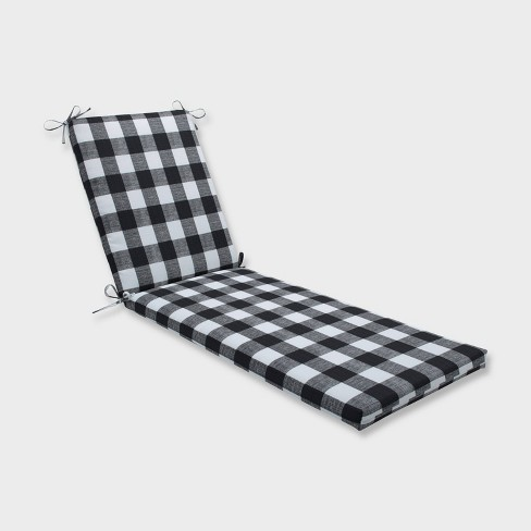 """80"""" x 23"""" x 3"""" Anderson Chaise Lounge Outdoor Cushion Black - Pillow Perfect - image 1 of 2"""