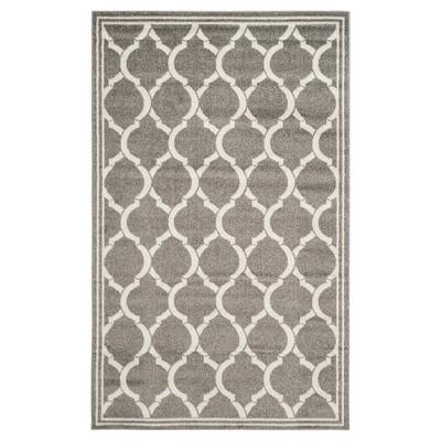 Dark Gray/Beige Geometric Loomed Area Rug 6'X9' - Safavieh