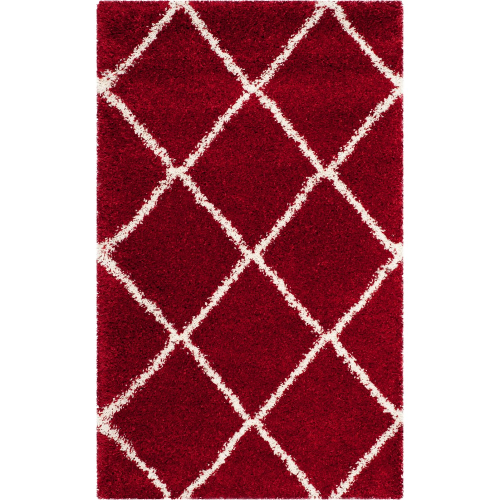 3'X5' Geometric Loomed Accent Rug Red/Ivory - Safavieh