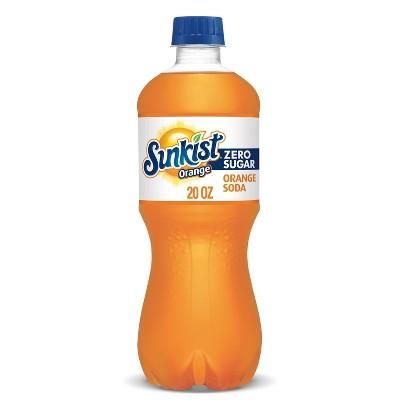Sunkist Zero Sugar Orange Soda - 20 fl oz Bottles