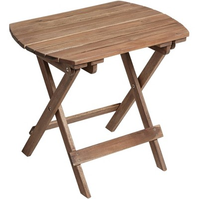 """Teal Island Designs Monterey 20"""" Wide Natural Wood Outdoor Side Table"""