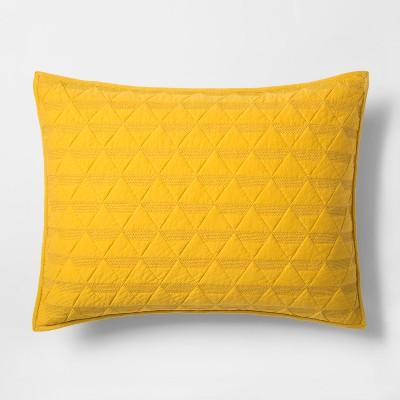 Citron Triangle Stitched Jersey Sham (Standard)- Project 62™ + Nate Berkus™