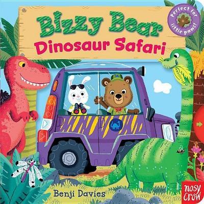 Bizzy Bear: Dinosaur Safari - (Board Book)