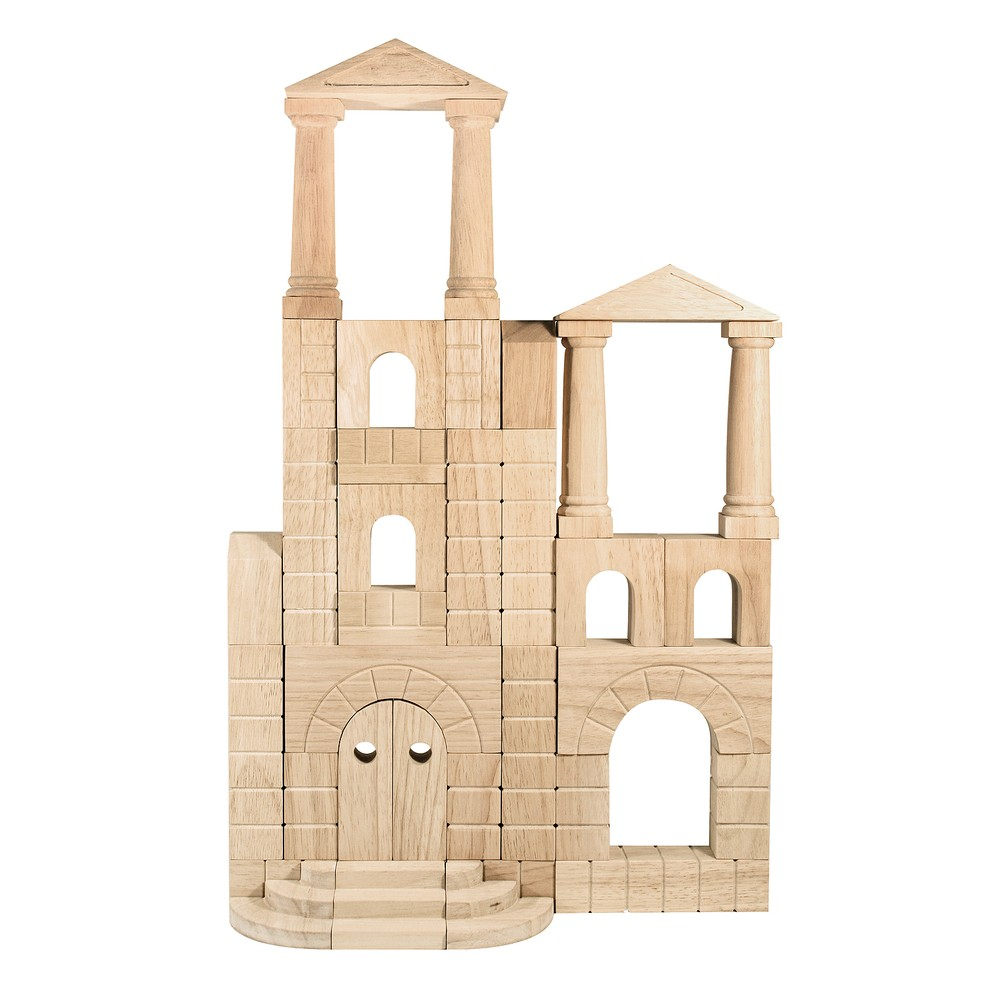 Melissa and Doug Architectural Wooden Unit Block Set With Storage Crate (44pc)