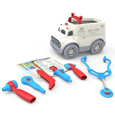 Green Toys Toddler's Pretend Play Ambulance and Doctor's Kit