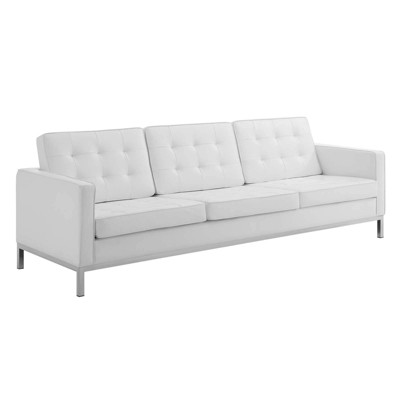 Loft Tufted Button Upholstered Faux Leather Sofa - Modway