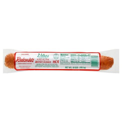Redondo's Lisboa Portuguese Sausage Hot - 10oz - image 1 of 1