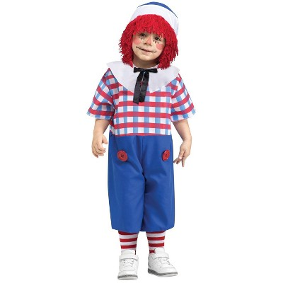 Boys' Raggedy Andy Toddler Costume 2 To 4