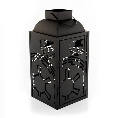 Seven20 Star Wars Black Stamped Lantern | Empire Imperial Symbol | 14 Inches Tall